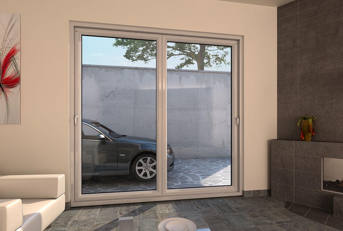 Porte finestre in pvc scorrevoli a libro a pioltello milano Finestra grande scorrevole