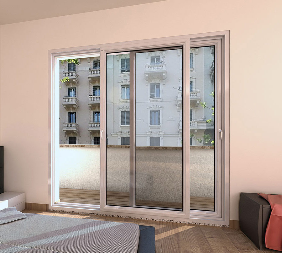 3 finestre e 3 porte finestre a milano quartiere isola Finestra grande scorrevole